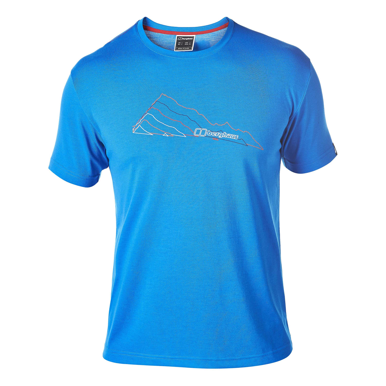 Berghaus T-Shirt Layered Mountain blue lemonade