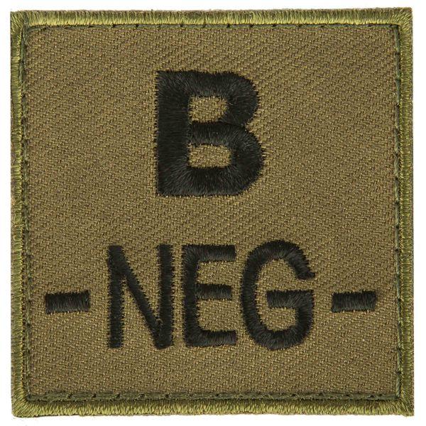 T.O.E Blutgruppenpatch Blutgruppe B negativ grün