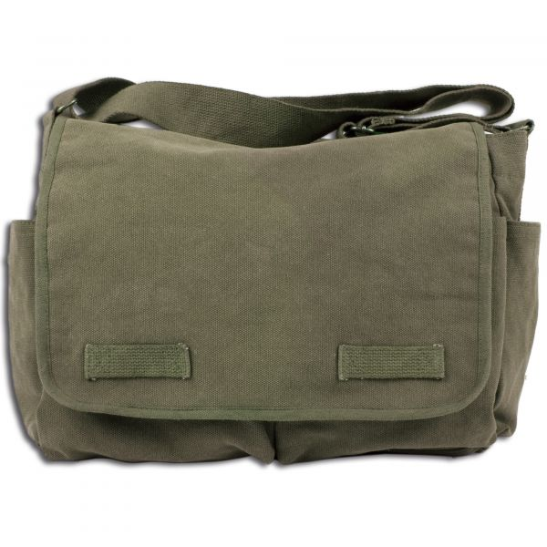 Umhängetasche Messenger Bag Classic oliv