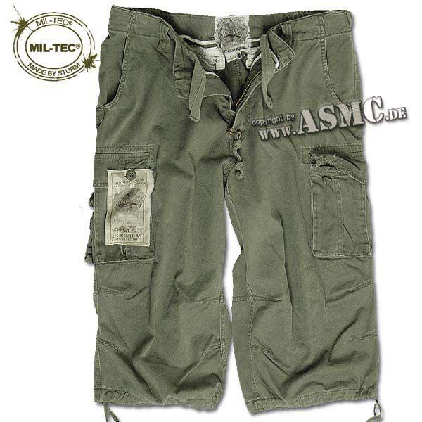 Air Combat 3-4 Shorts Mil-Tec washed oliv