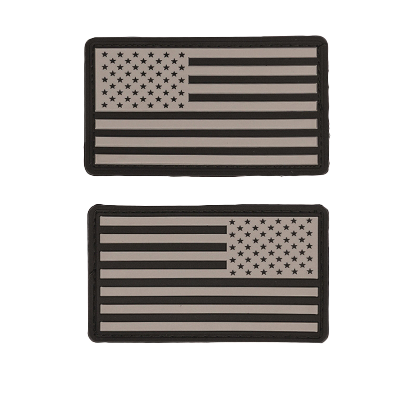 Abzeichen US Flagge PVC m. Klett ACU