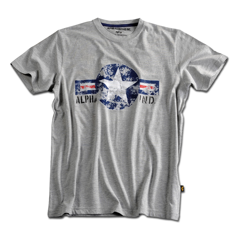 T-Shirt Alpha USAF grau