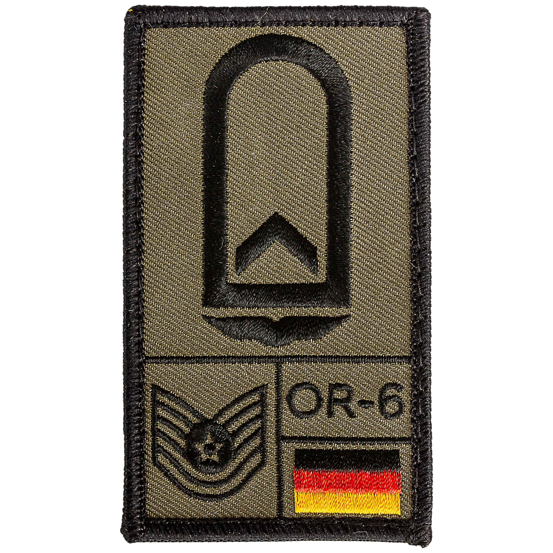 Café Viereck Rank Patch Feldwebel Luftwaffe oliv