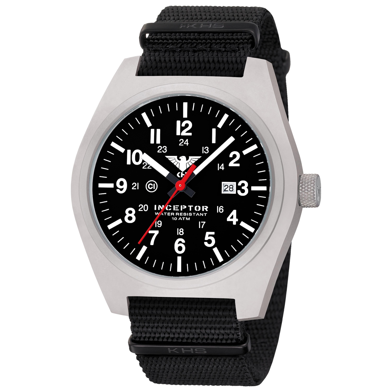 KHS Uhr Inceptor Steel Natoband schwarz