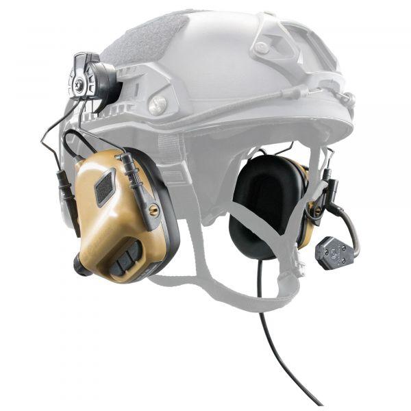 Earmor Aktivgehörschutz M32 für FAST Helme NRR22 coyote braun