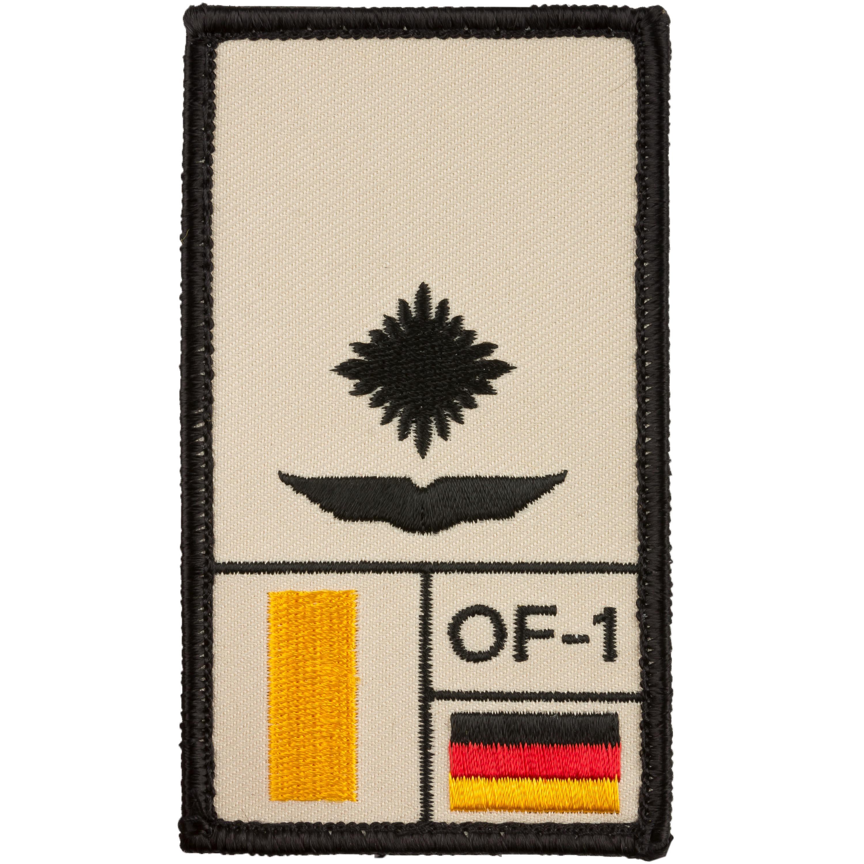Café Viereck Rank Patch Leutnant Luftwaffe sand