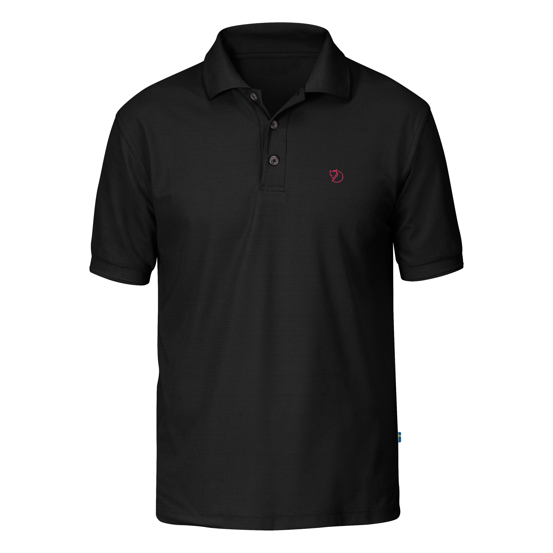 Poloshirt Fjällräven Crowley Piqué schwarz