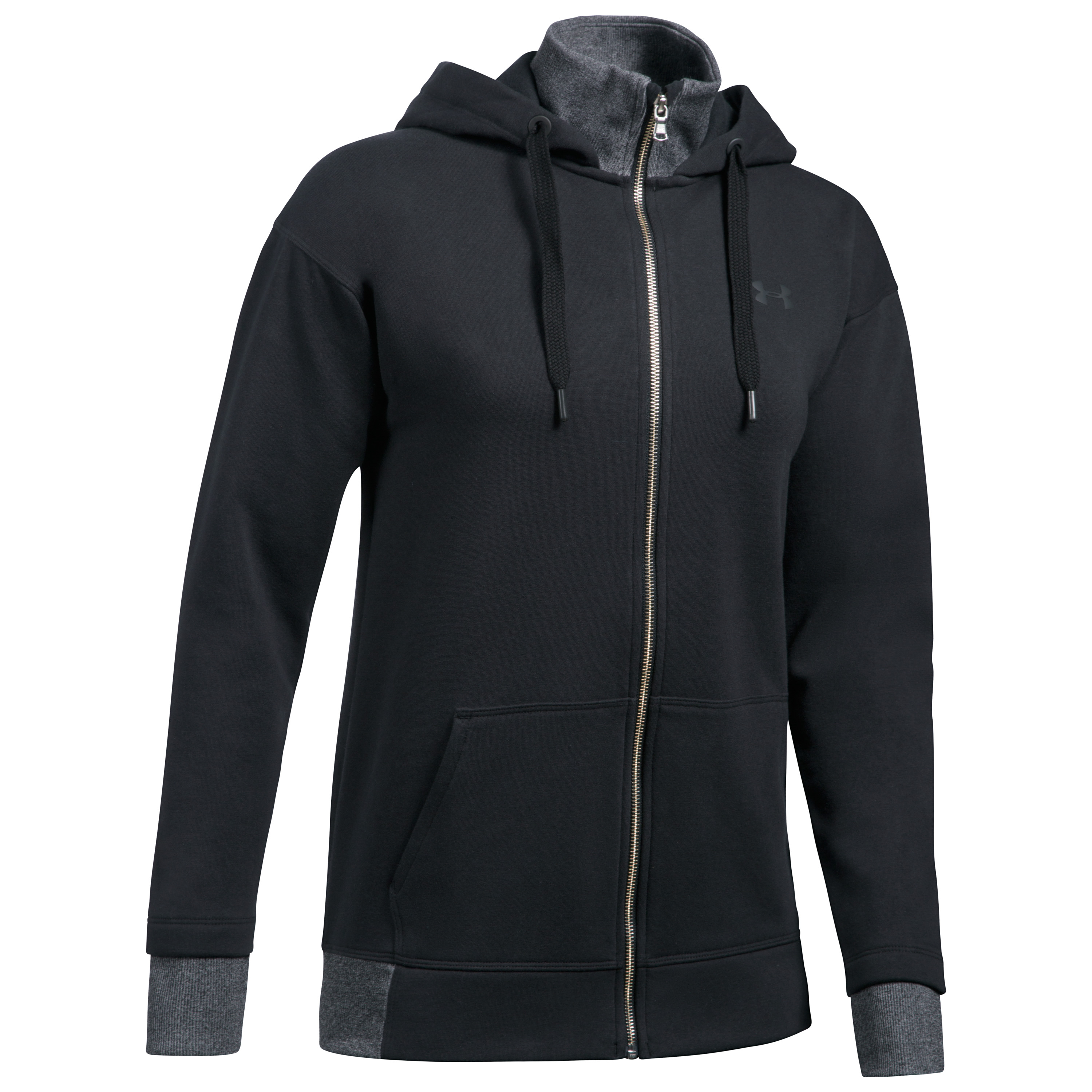 Under Armour Women Hoodie Threadborne Full Zip schwarz