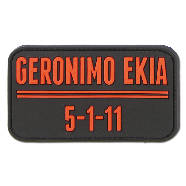 3D-Patch Geronimo Ekia schwarz-rot