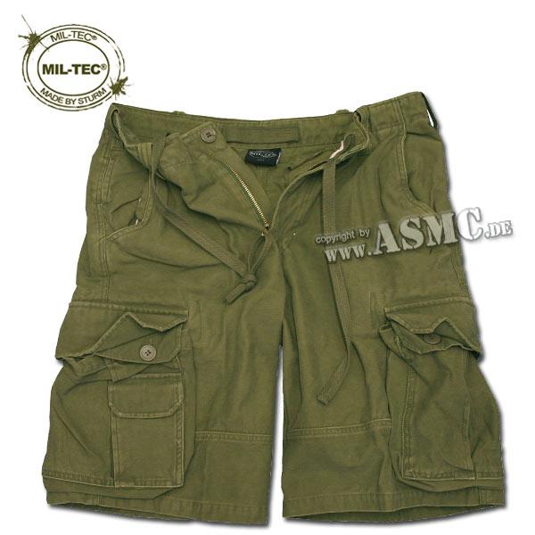 Aviator Shorts Mil-Tec Satin washed oliv