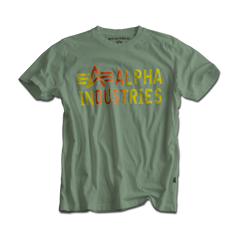 T-Shirt Alpha Industries Basic Print 3 oliv