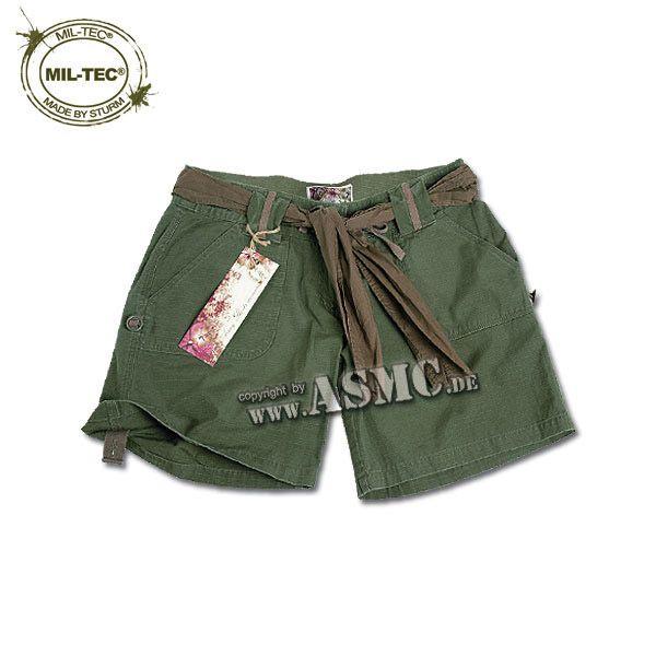 Army Shorts Woman oliv