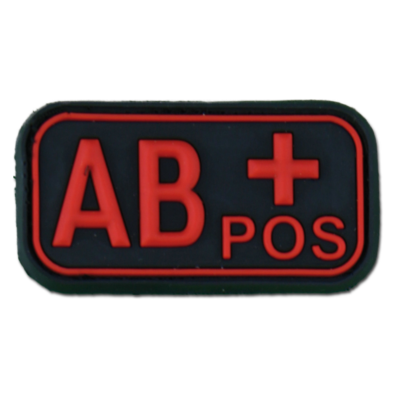 3D Blutgruppenpatch AB Pos blackmedic