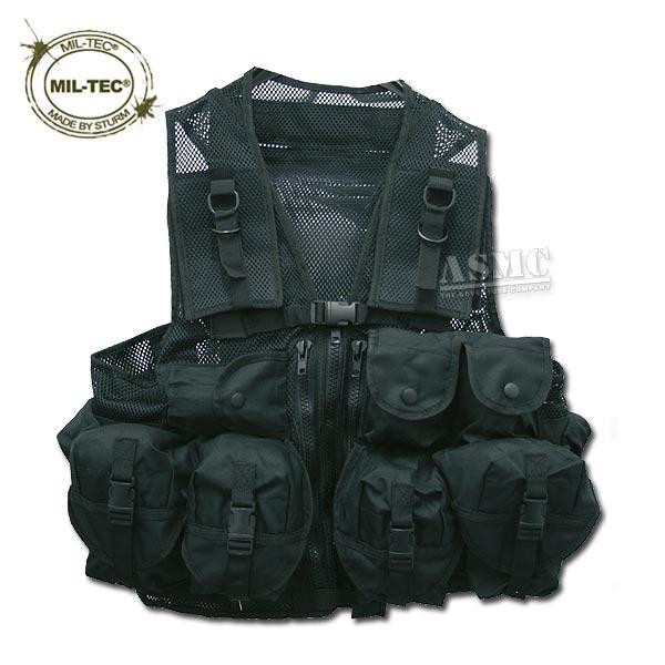 Einsatzweste Tactical Mil-Tec schwarz