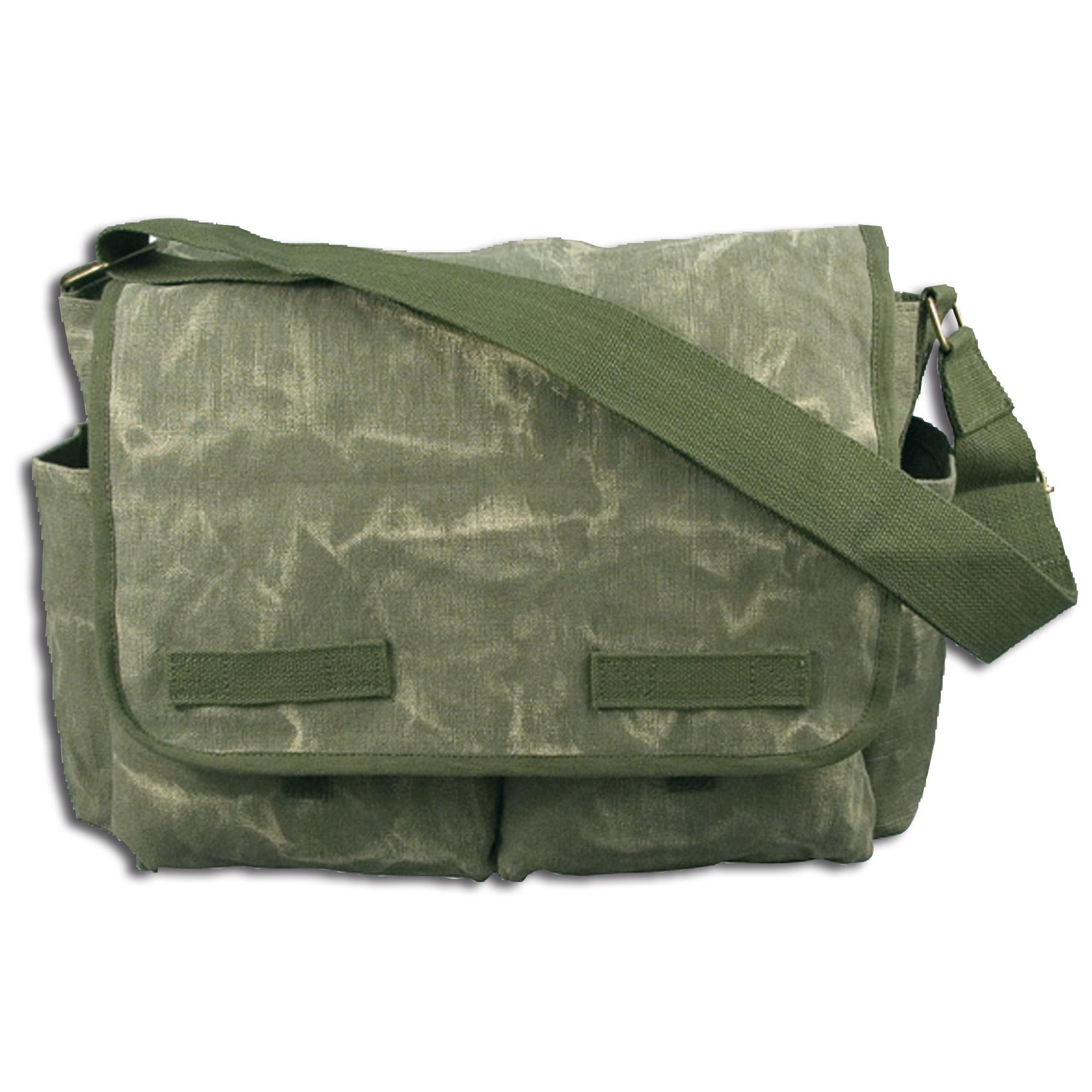 Umhängetasche Messenger Bag Classic oliv stonewashed