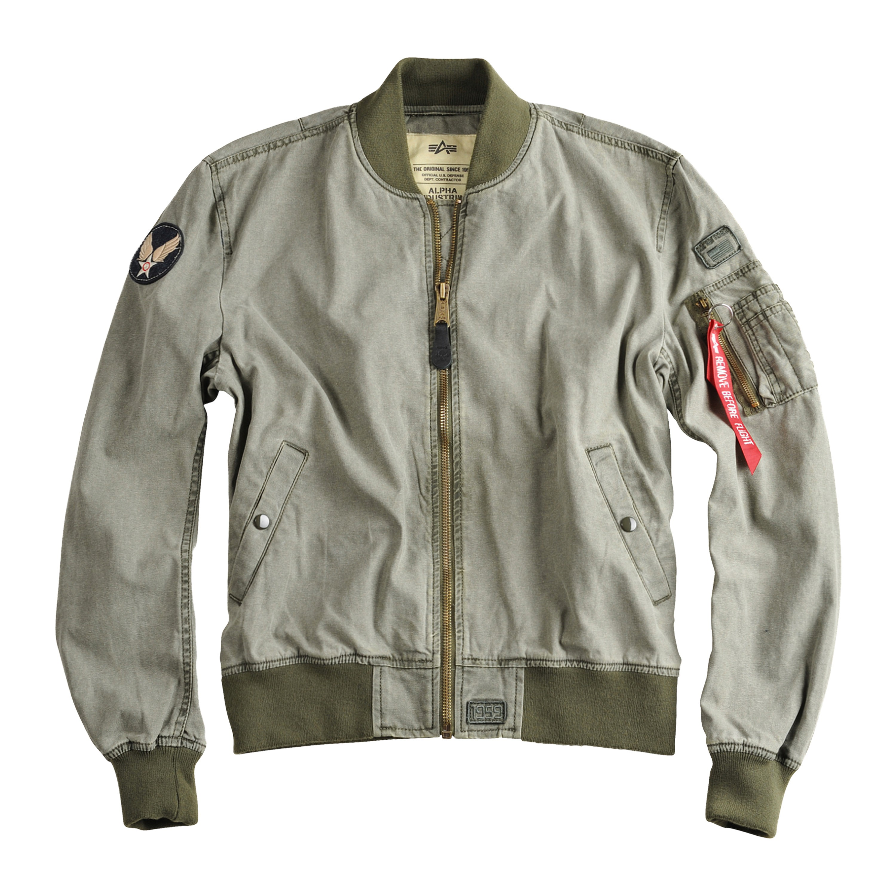 new product 93815 4d62d Alpha Industries Fliegerjacke MA-1 Ground Crew oliv
