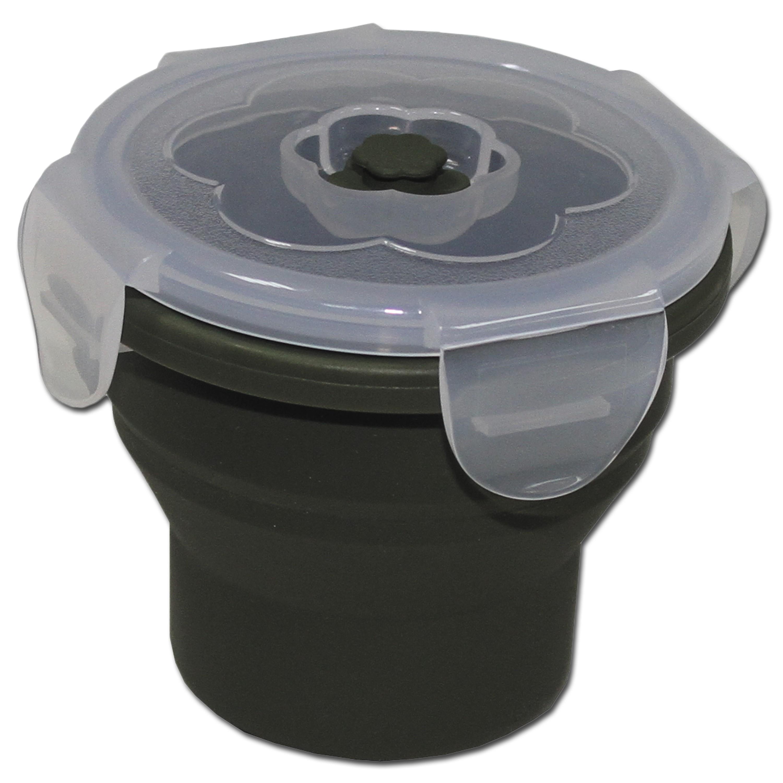 Essensbehälter MFH faltbar 240 ml rund oliv
