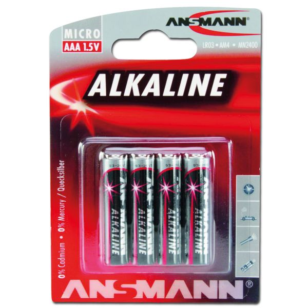 Batterie Ansmann Micro AAA Red-Line 4er- Pack