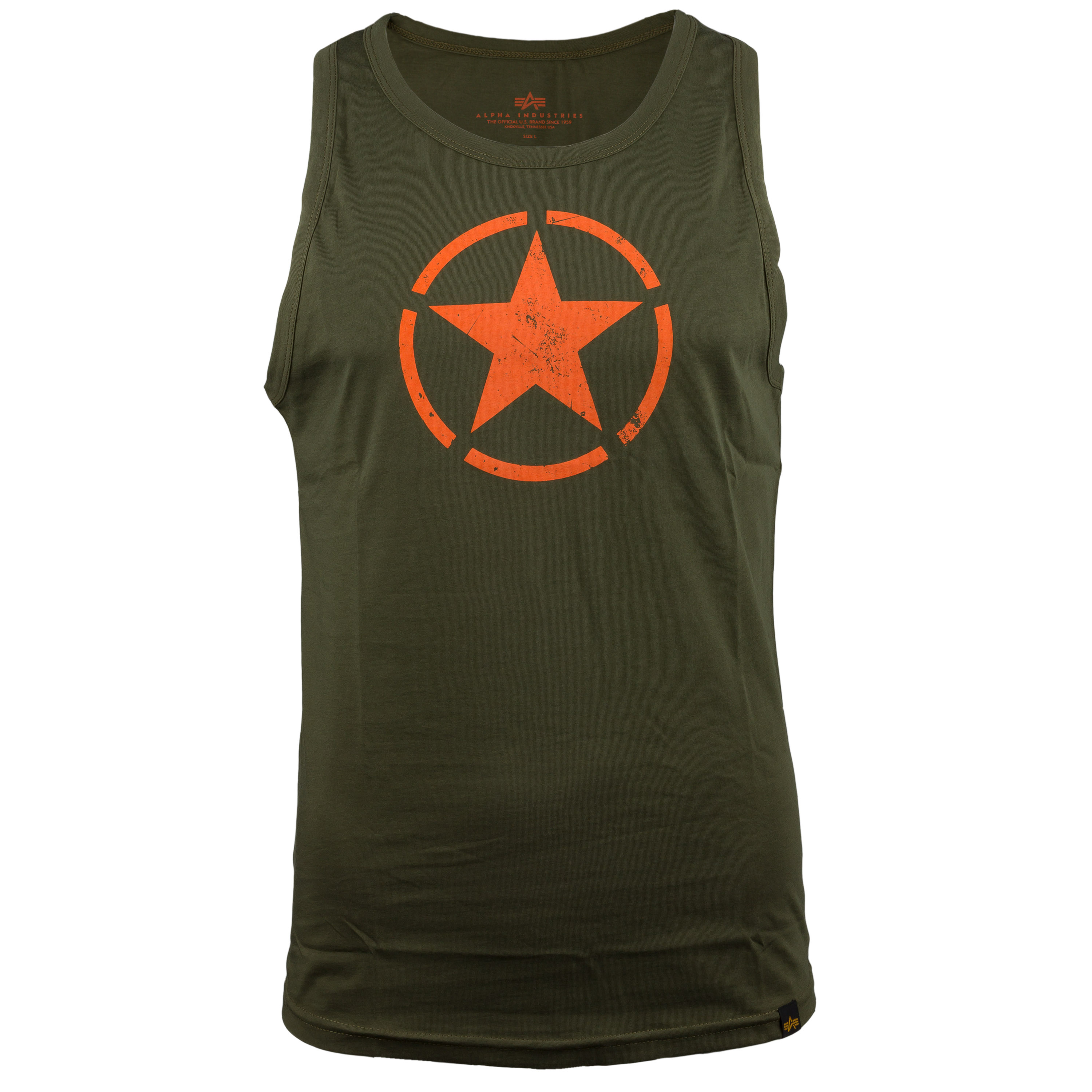 Alpha Industries Tank Top Star oliv