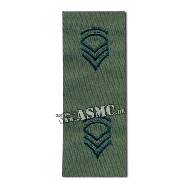 Rangabzeichen US Textil Sergeant FC oliv