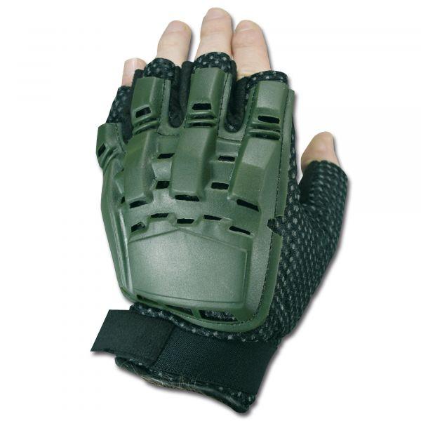 Gotcha-Paintball Handschuhe Halffinger oliv