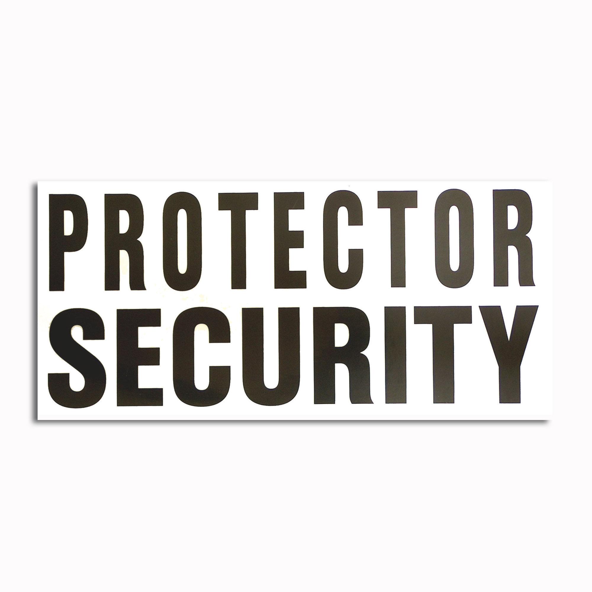 Transparenter Aufkleber Protector Security