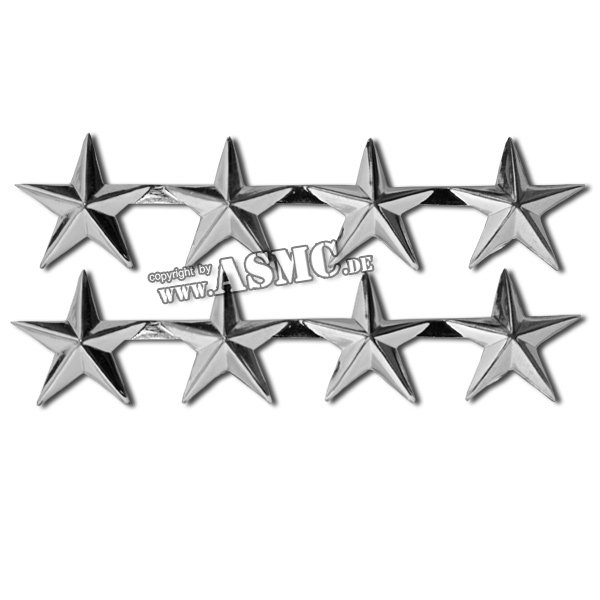 Rangabzeichen US 4 Sterne General polished