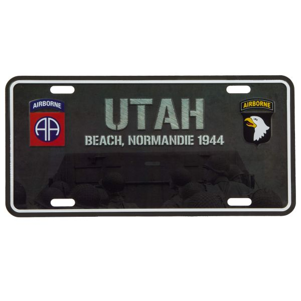 101 Inc. Nummernschild Utah Beach Normandie 1944
