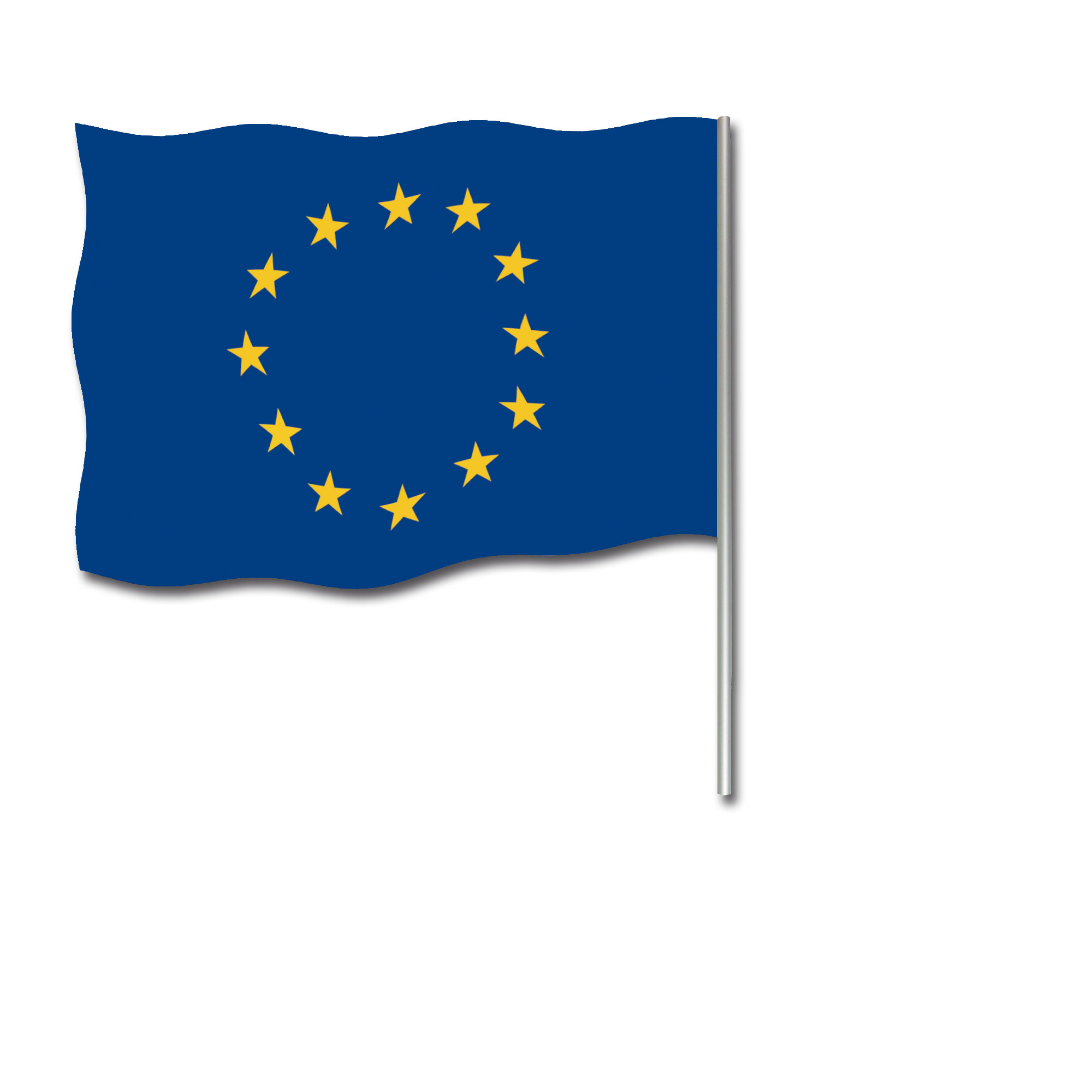 Handflagge 45x30 Europa