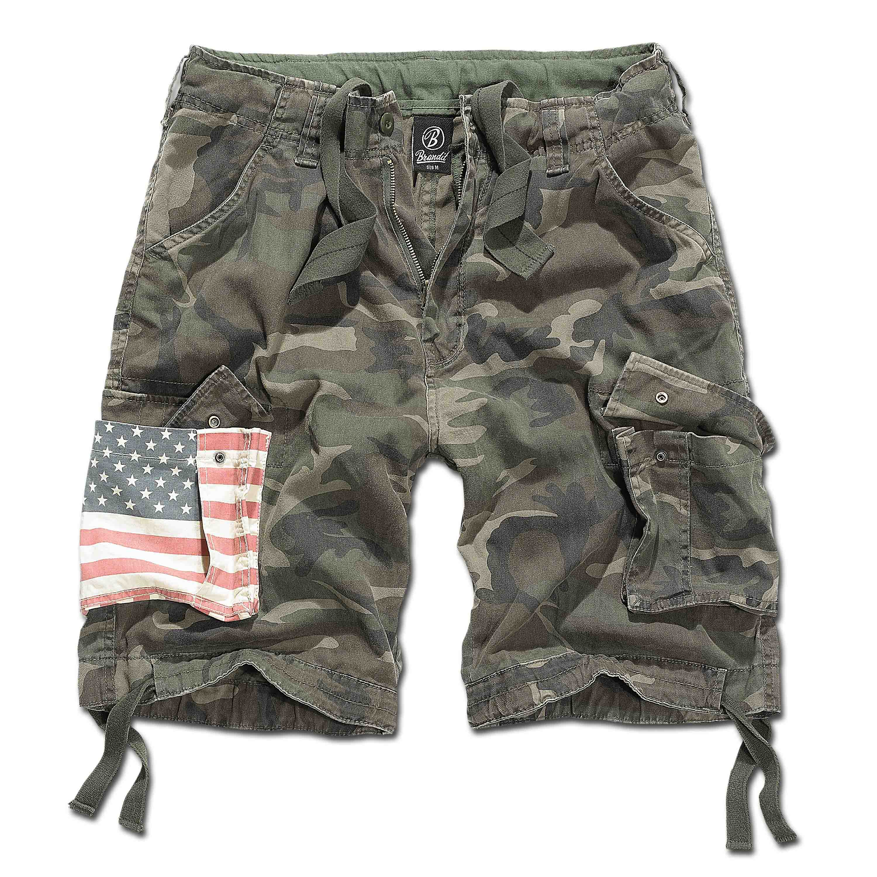 Brandit Shorts 2014 Urban Legend Stars & Stripes woodland