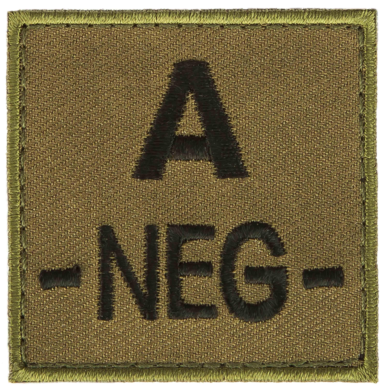 T.O.E Blutgruppenpatch Blutgruppe A negativ grün