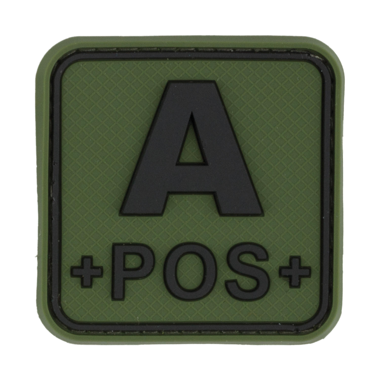 TAP 3D Blutgruppenpatch A Pos quadratisch forest