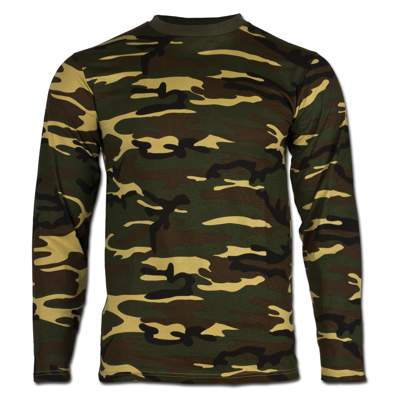 T-Shirt langarm woodland