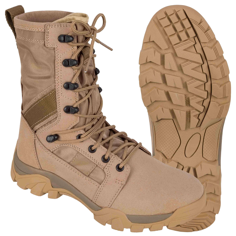 Brandit Stiefel Defense Boots camel