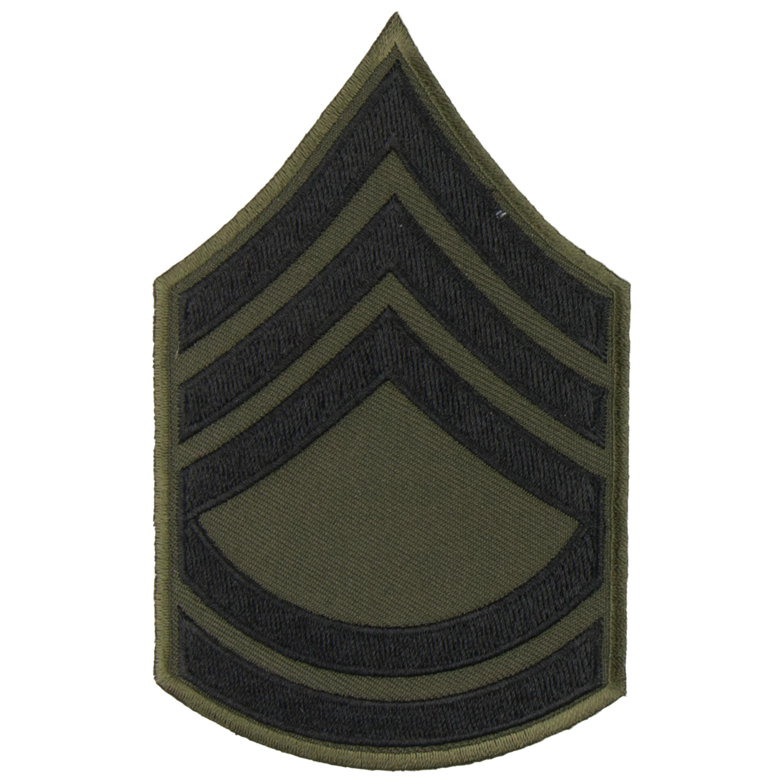 Rangabzeichen US Textil schwarz Sergeant FC