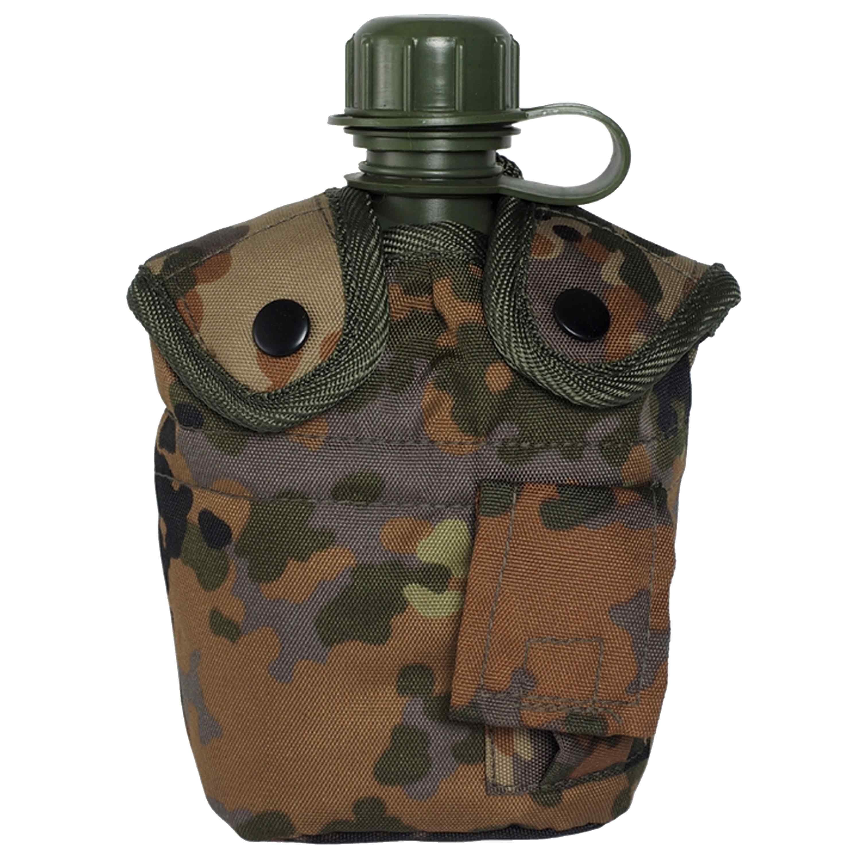 Feldflasche 1 qt. mit Becher und Hülle flecktarn