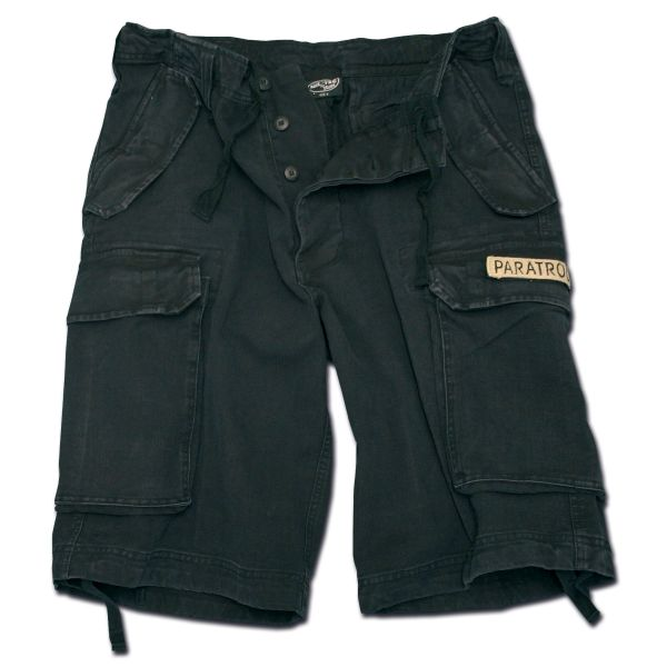 Paratrooper Shorts Mil-Tec washed schwarz