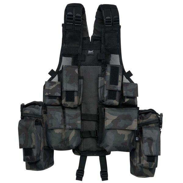 Brandit Weste Tactical Vest darkcamo