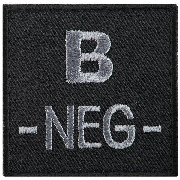 T.O.E Blutgruppenpatch Blutgruppe B negativ schwarz