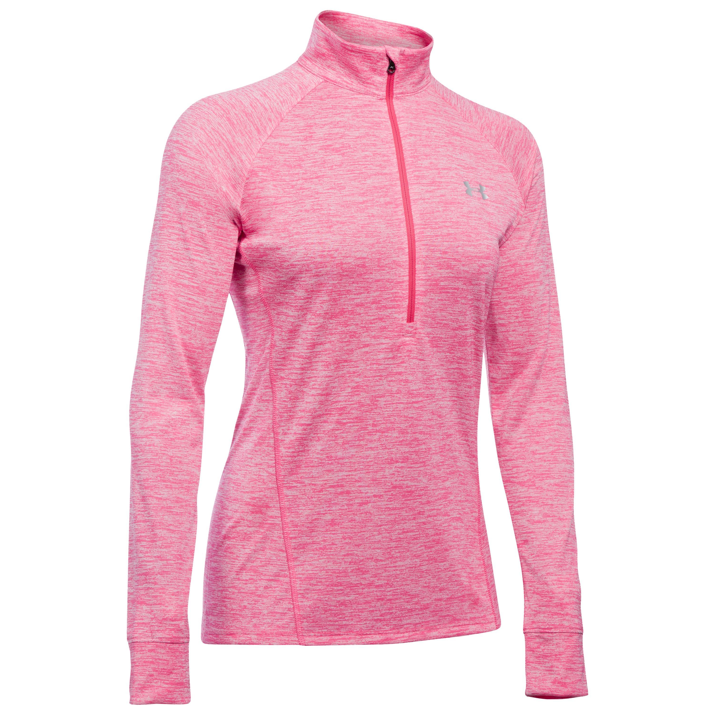 Under Armour Women Shirt Tech Twist mit Reißverschluss pink