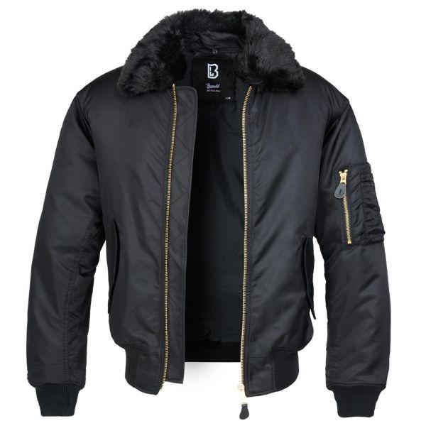 Brandit Jacke MA2 Jacket Fur Collar schwarz