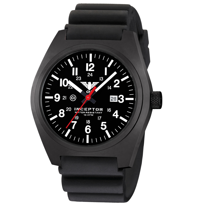 KHS Uhr Inceptor Black Steel Diverband schwarz