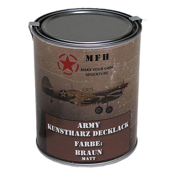 MFH Farbdose Army matt braun 1 L