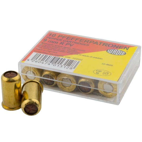 Wadie Pfefferpatronen cal. 9 mm Revolver R.PV 10 St.