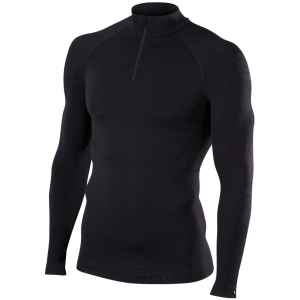 Falke Zipshirt Tight Fit schwarz