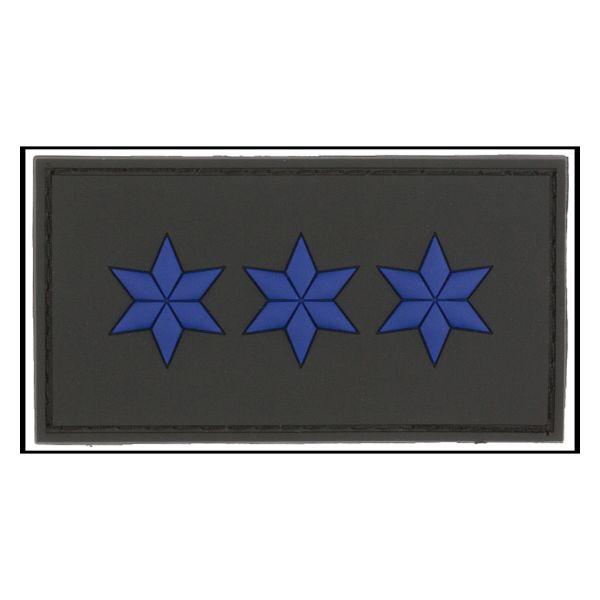 3D-Patch Dienstgradabzeichen Polizeiobermeister schwarz
