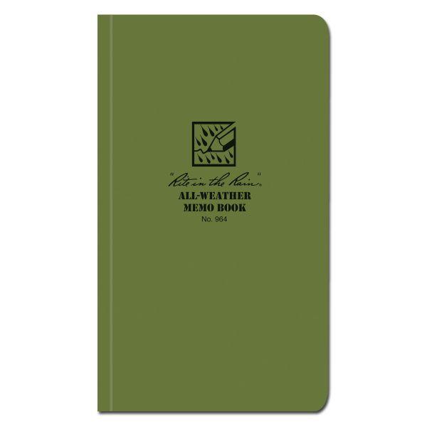 Rite in the Rain Tactical Memo Book oliv 964