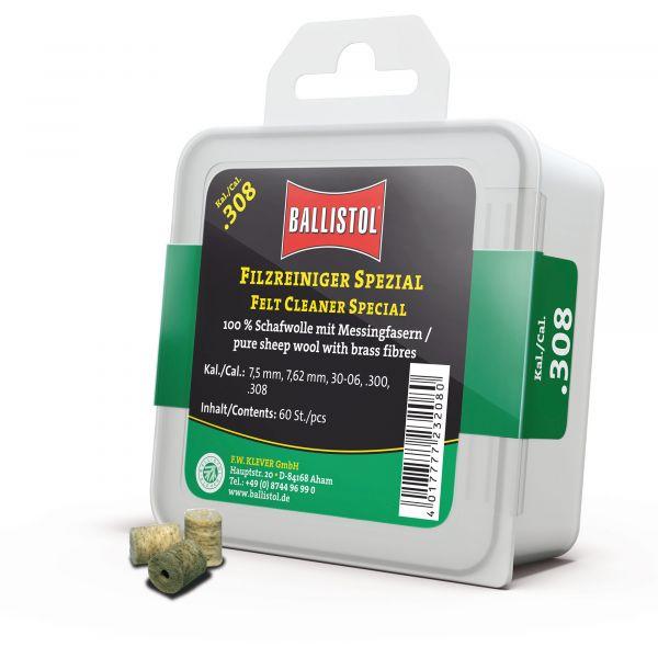 Ballistol Reinigungspfropfen Filz Spezial Kal. .308 60 Stück