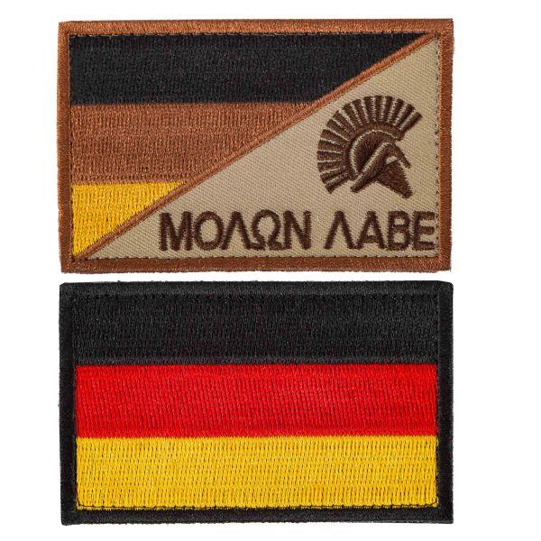 TacOpsGear Patch Set Molon Labe & Deutschland Flagge 2er Set