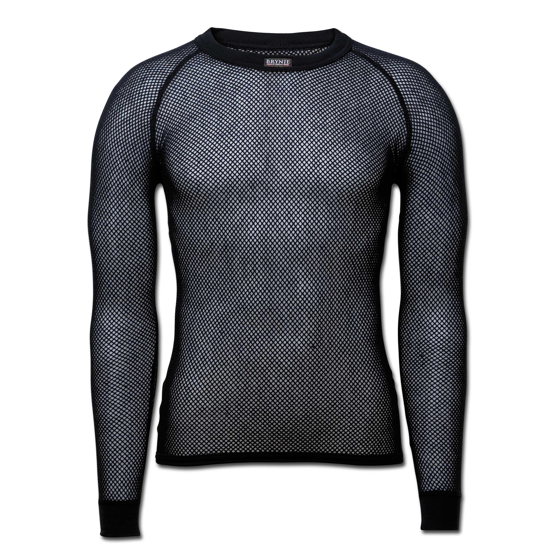 Brynje Unterhemd langarm schwarz